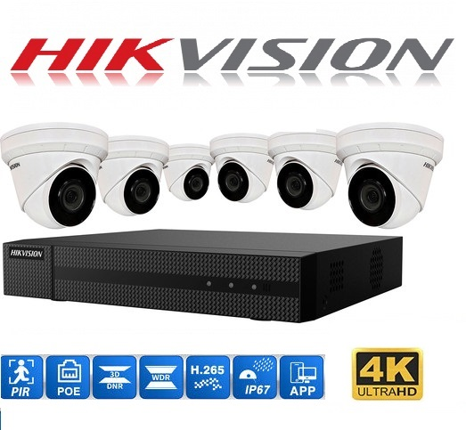 Hikvision 8Ch 6CA 2TB installation package